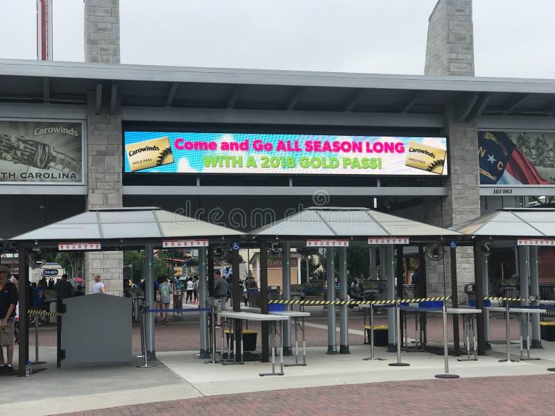 Parco di divertimenti di Carowinds a Charlotte, Nord Carolina immagine stock libera da diritti