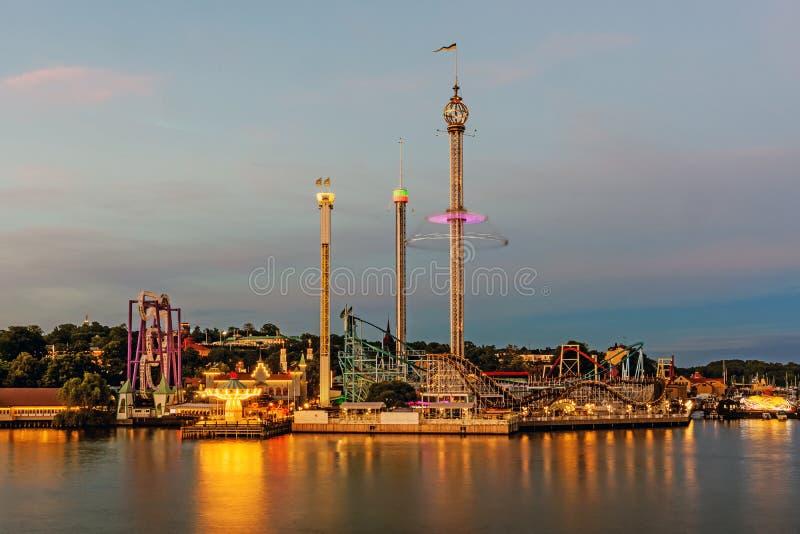 Parco di divertimenti di Grona Lund immagine stock