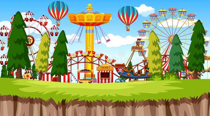 Parco di divertimenti illustrazione vettoriale
