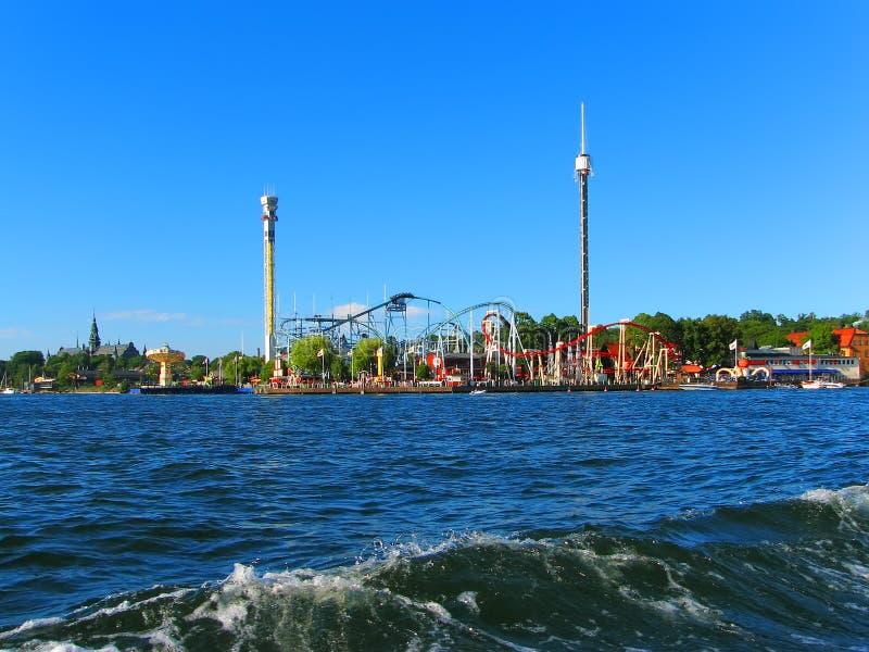Parco di divertimenti a Stoccolma, Svezia immagine stock libera da diritti