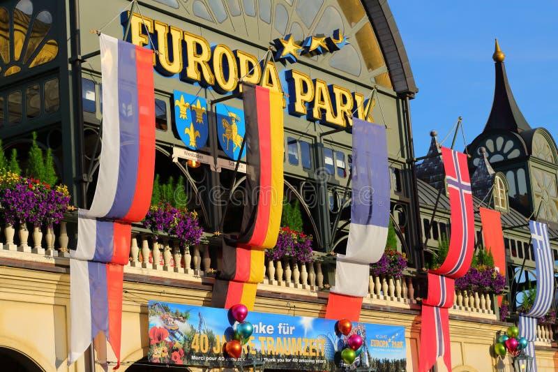 Parco di europa della costruzione dell'entrata fotografia stock libera da diritti