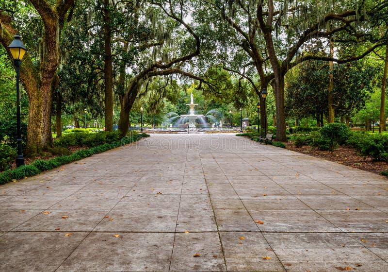Parco di Forsyth in savana, GA immagini stock