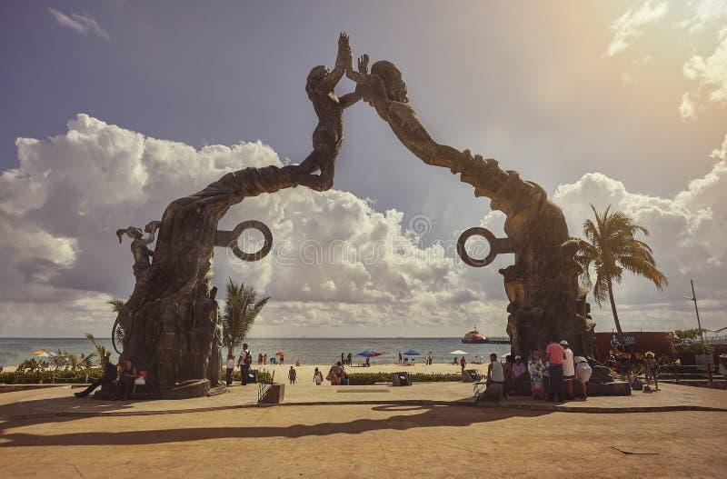 Parco di Fundadores in Playa del Carmen fotografia stock