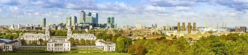 Parco di Greenwich della forma dell'orizzonte di Londra fotografia stock libera da diritti