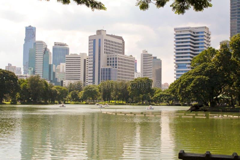 Parco di Lumpini a Bangkok immagine stock libera da diritti