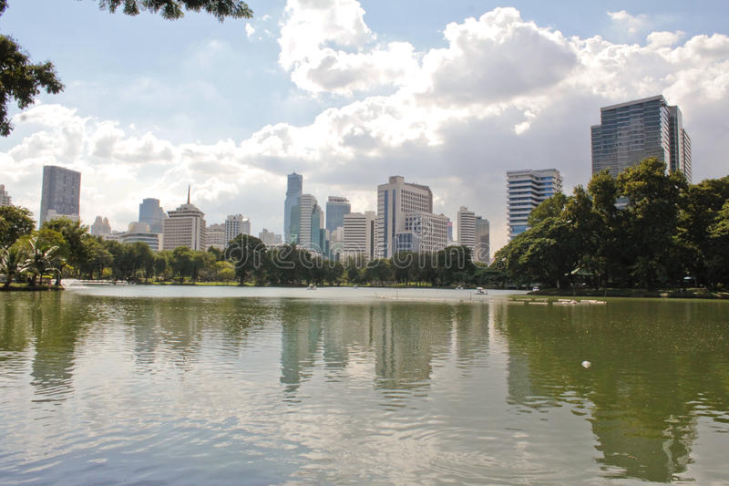 Parco di Lumpini a Bangkok fotografie stock