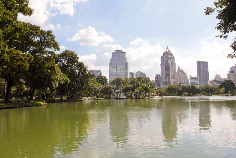 Parco di Lumpini a Bangkok immagini stock libere da diritti