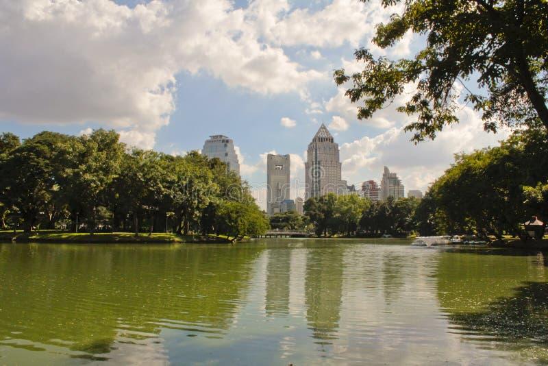 Parco di Lumpini a Bangkok fotografia stock libera da diritti