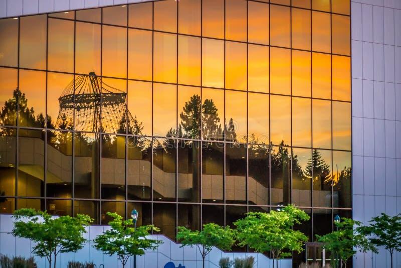 Parco di lungofiume a Spokane, WA immagini stock