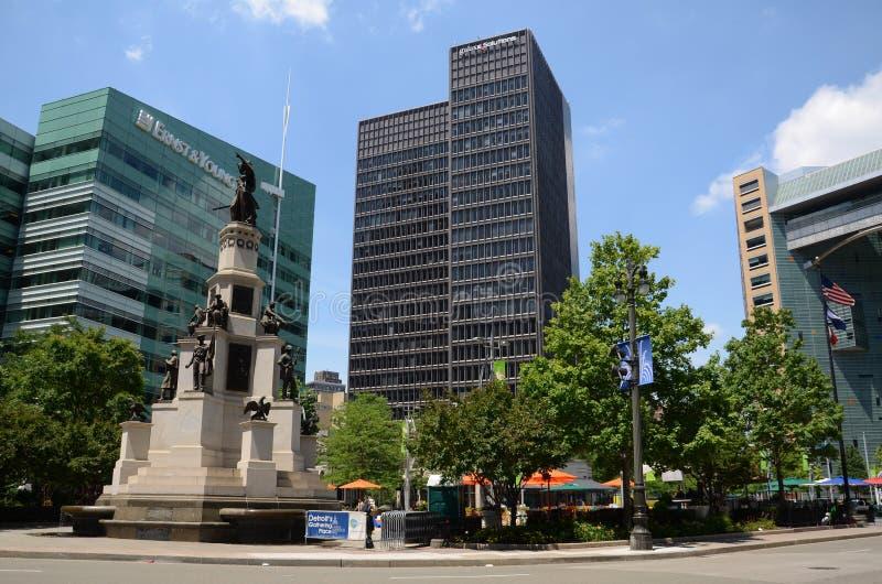 Parco di Martius della città universitaria a Detroit, MI immagini stock libere da diritti