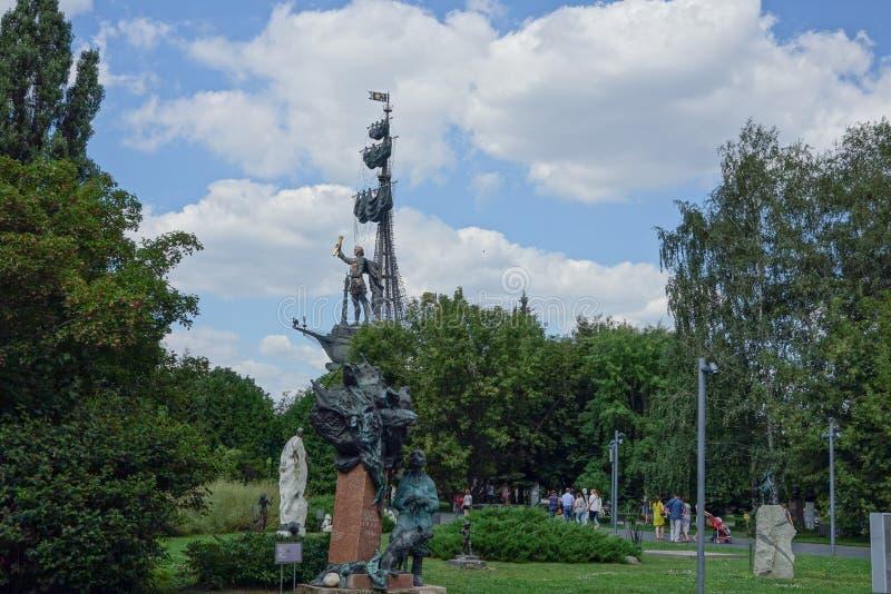 Parco di MUZEON delle arti a Mosca fotografia stock libera da diritti