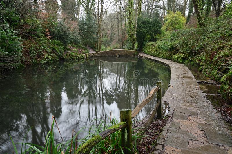 Parco di Ninesprings in Yeovil fotografie stock libere da diritti