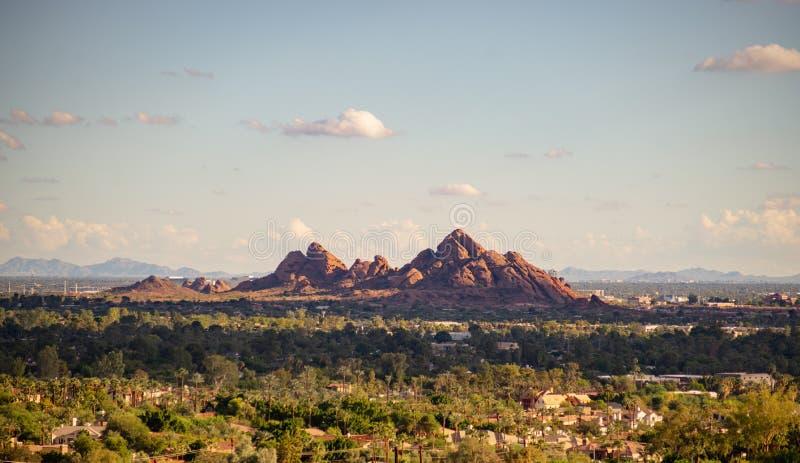 Parco di Papago, Phoenix, Az, paesaggio del deserto di U.S.A. fotografie stock