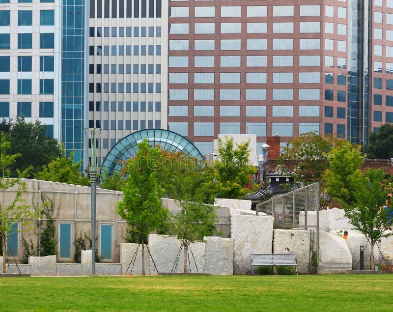 Parco di Romare Bearden a Charlotte NC fotografie stock