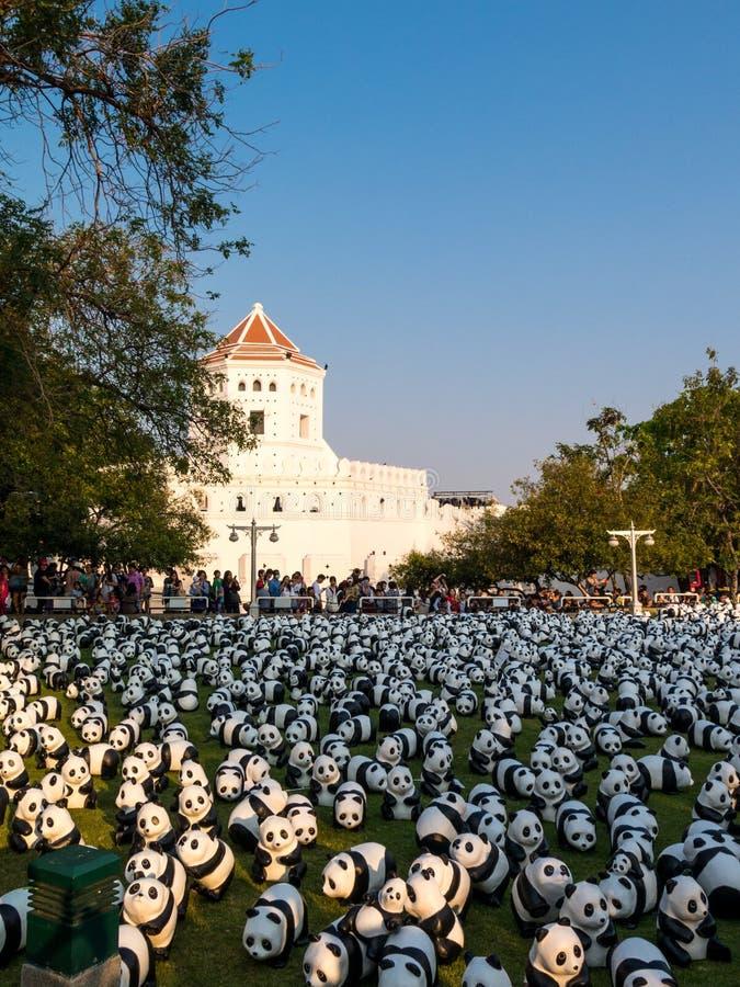 Parco di Santichaiprakarn dell'evasione dei panda immagini stock