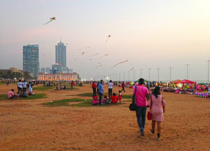 Parco di sera a Colombo fotografie stock libere da diritti