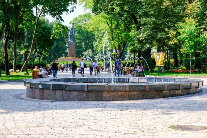 Parco di Shevchenko, paesaggio di estate immagini stock