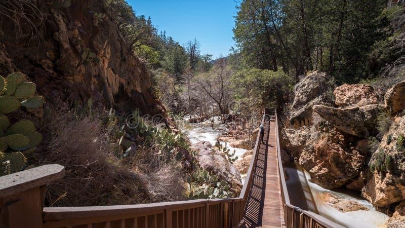 Parco di stato naturale del ponte di Tonto fotografia stock libera da diritti