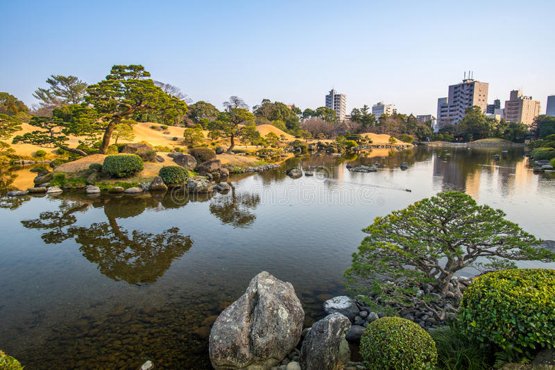 Parco di Suizenji immagini stock
