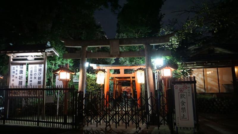 Parco di Ueno Portone di Torii Parecchi portoni formano il viale fotografie stock