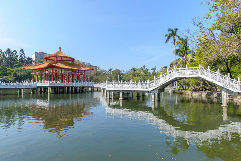 Parco di Zhongshan nella città di Tainan fotografia stock