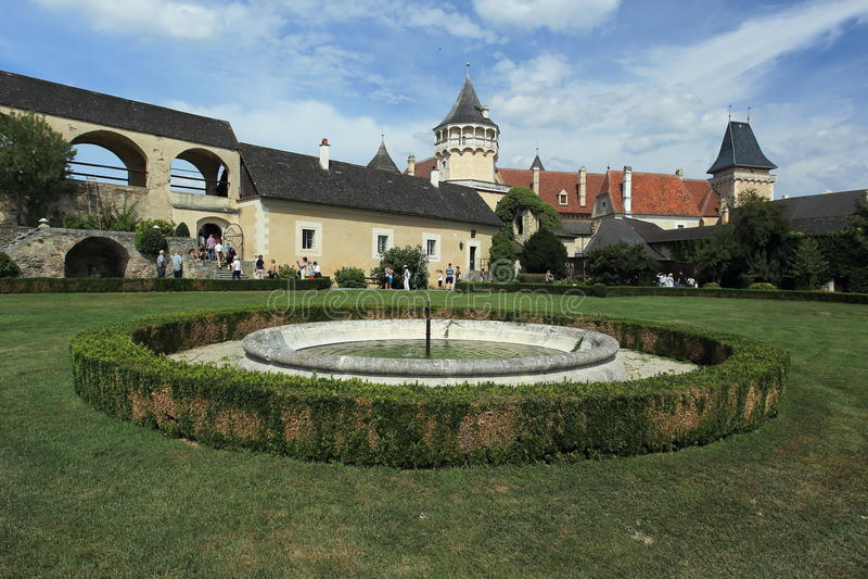 Parco e castello di Rosenburg immagine stock