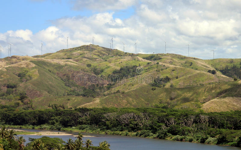 Parco eolico di Figi fotografia stock