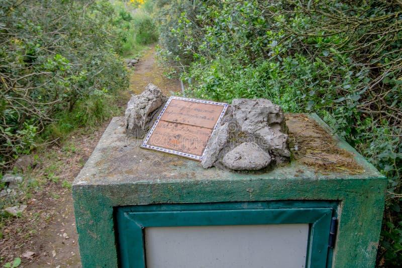 Parco Filosofico na ilha de Capri, Itália fotografia de stock royalty free