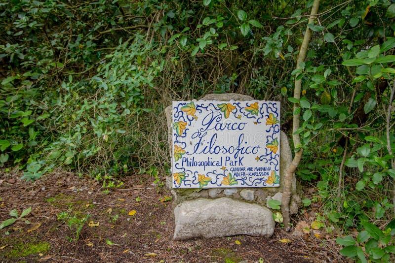 Parco Filosofico na ilha de Capri, Itália fotos de stock