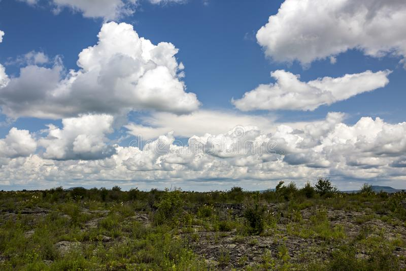 Parco geologico del mondo di wudalianchi della Cina, riserva di biosfera del mondo immagine stock libera da diritti