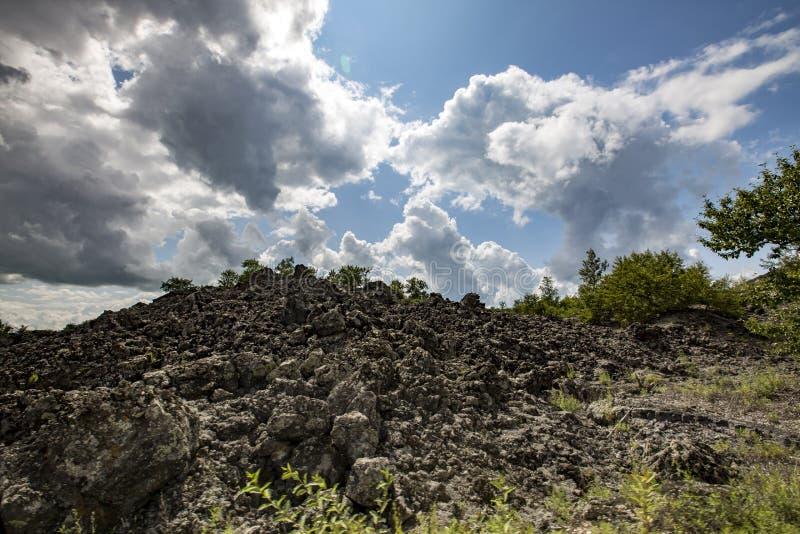 Parco geologico del mondo di wudalianchi della Cina, riserva di biosfera del mondo fotografia stock
