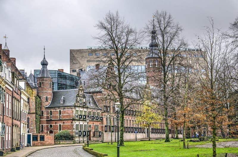 Parco Groningen Martini e edificio Forum fotografia stock