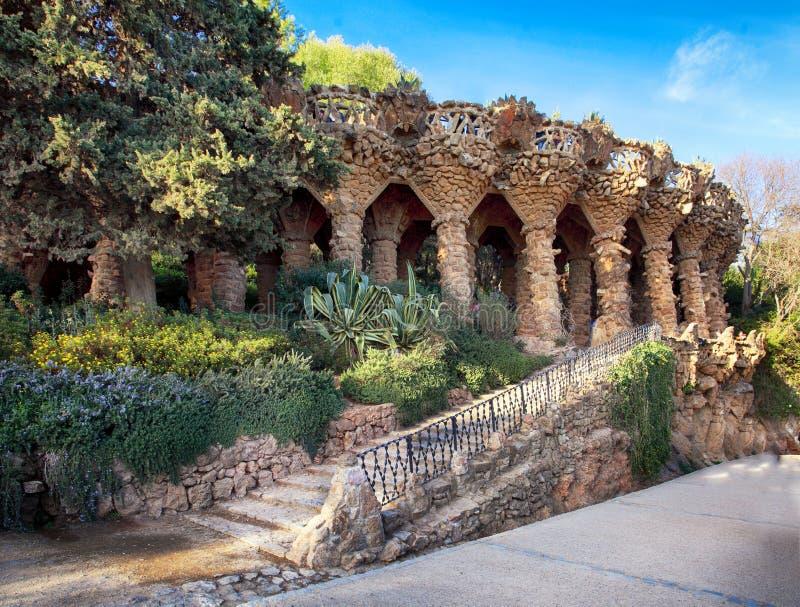 Parco Guell a Barcellona, nessuno fotografie stock libere da diritti