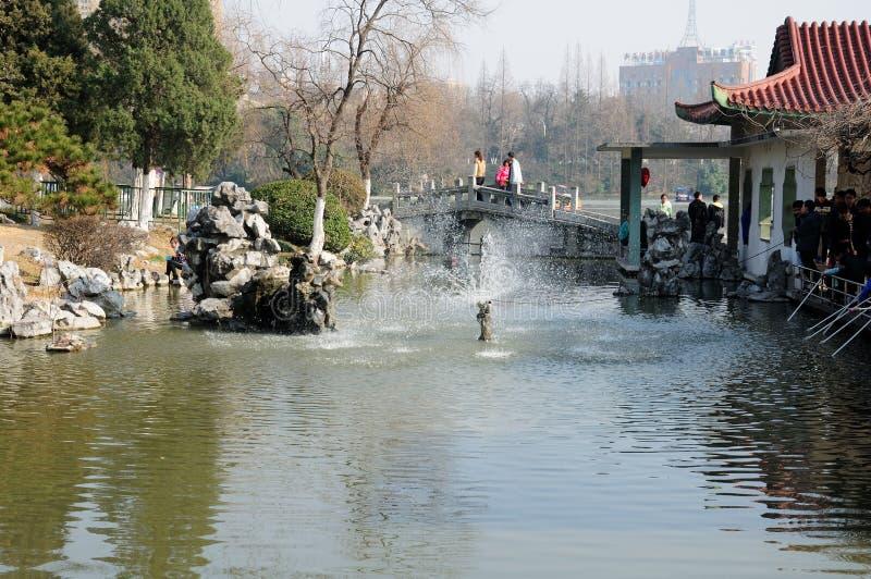Parco Hefei Cina di Xiaoyaojin immagini stock libere da diritti