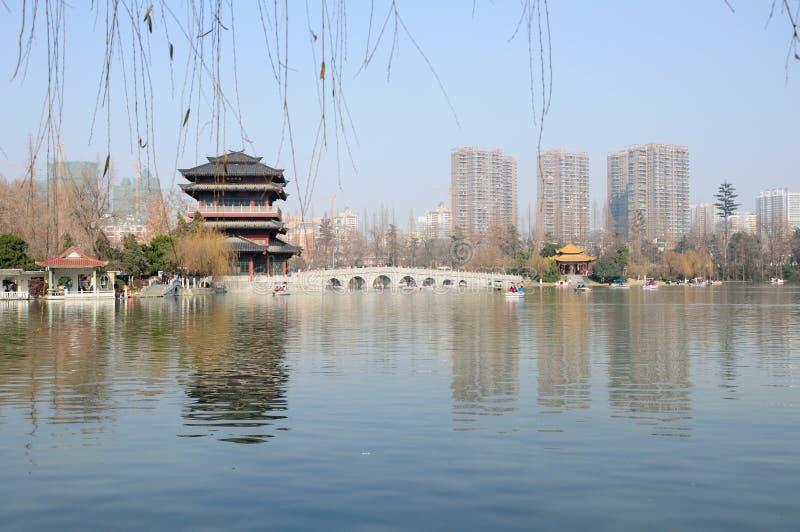 Parco Hefei Cina di Xiaoyaojin fotografia stock libera da diritti