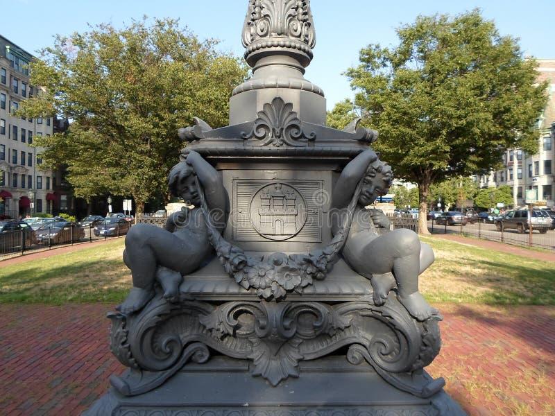 Parco in Kenmore Square, Boston, Massachusetts, U.S.A. immagine stock libera da diritti