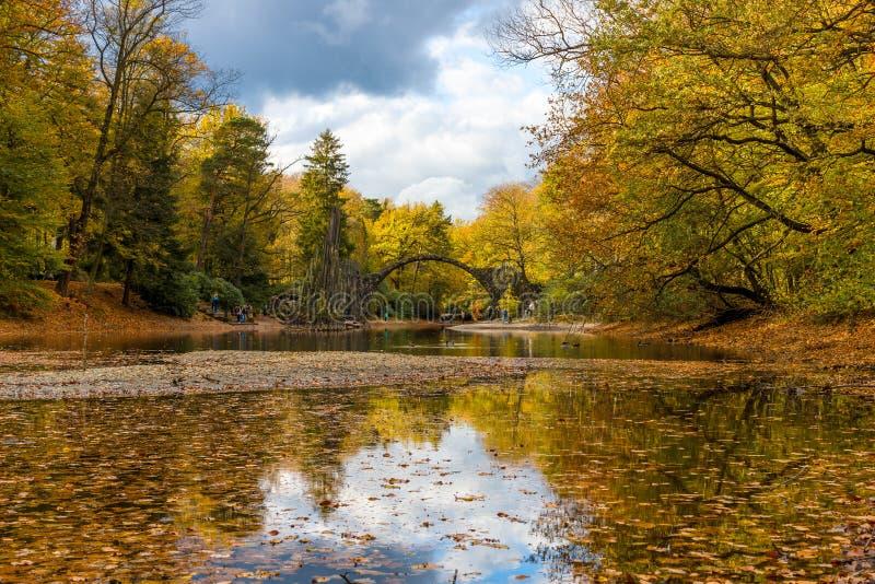 Parco Kromlau del rododendro immagini stock libere da diritti