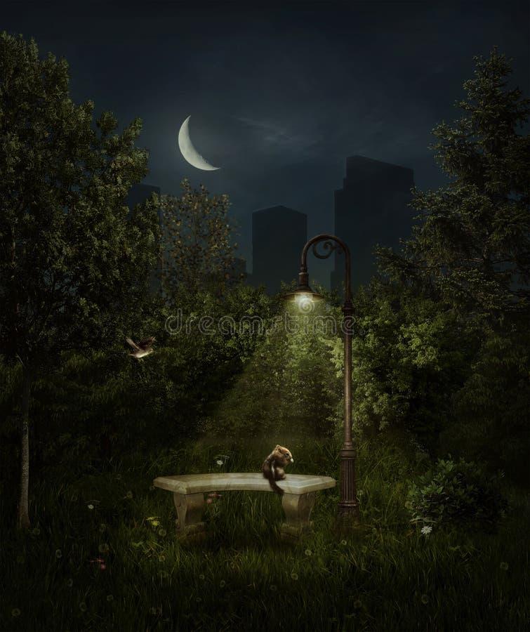 Parco nascosto fantasia rappresentazione 3d illustrazione vettoriale