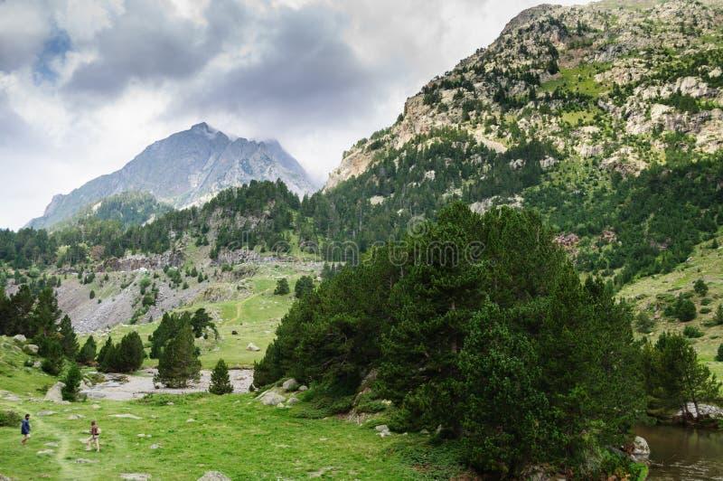 Parco naturale di Posets-Maladeta - valle di Benasque fotografia stock