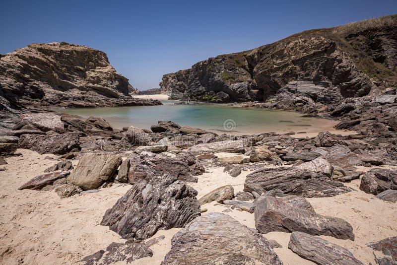 Parco naturale di sud-ovest l'Alentejo, itinerario dei pescatori immagine stock libera da diritti