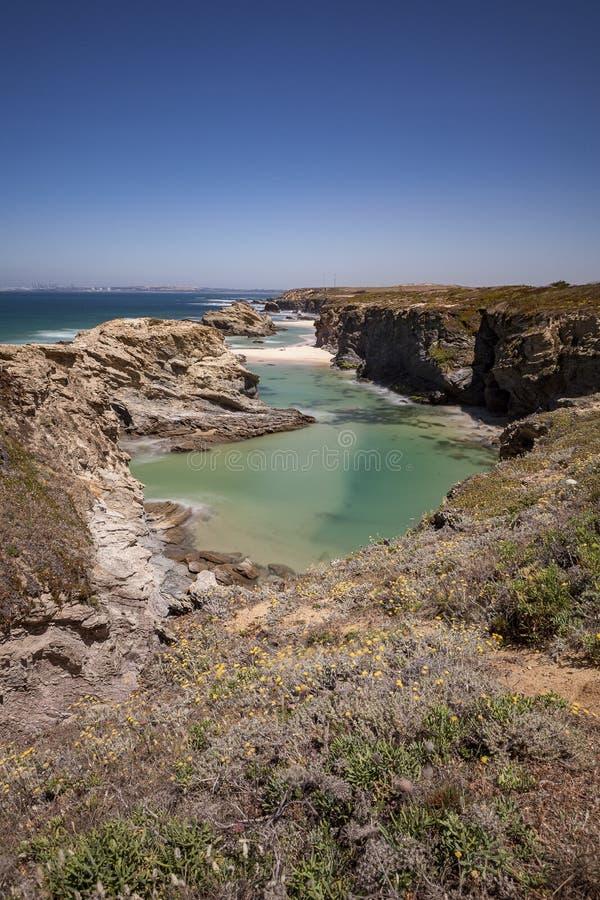Parco naturale di sud-ovest l'Alentejo, itinerario dei pescatori immagini stock