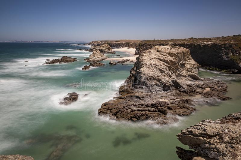 Parco naturale di sud-ovest l'Alentejo, itinerario dei pescatori fotografie stock libere da diritti