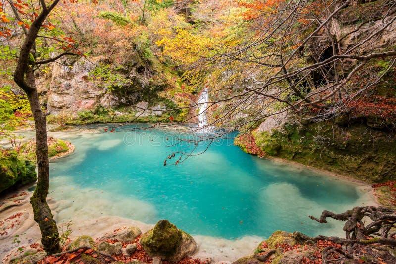 Parco naturale di Urederra immagine stock