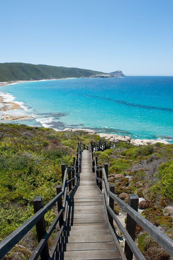 Parco nazionale Albany Australia di Torndirrup della spiaggia fotografia stock