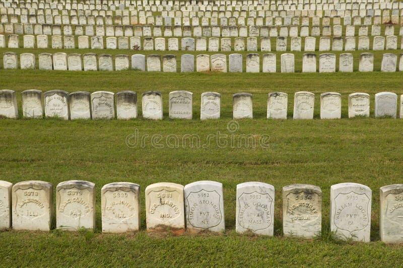 Parco nazionale Andersonville o campo Sumter, un sito storico nazionale in Georgia, sito della prigione e del cimitero confederat immagini stock libere da diritti