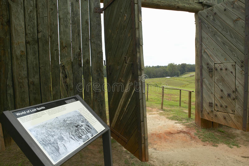 Parco nazionale Andersonville o campo Sumter, un sito storico nazionale in Georgia, sito della prigione e del cimitero confederat immagine stock libera da diritti