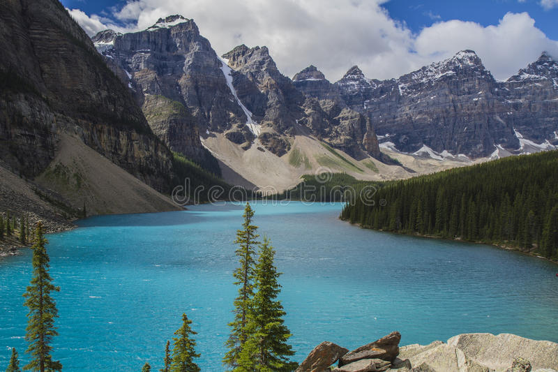 Parco nazionale Canada del lago moraine - Banff fotografia stock