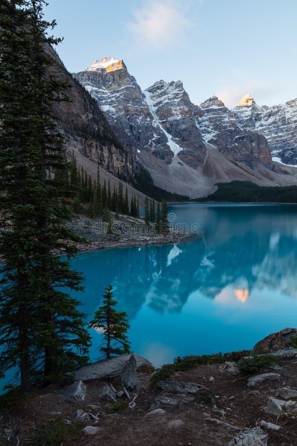 Parco nazionale del lago moraine, Banff, Alberta fotografia stock libera da diritti