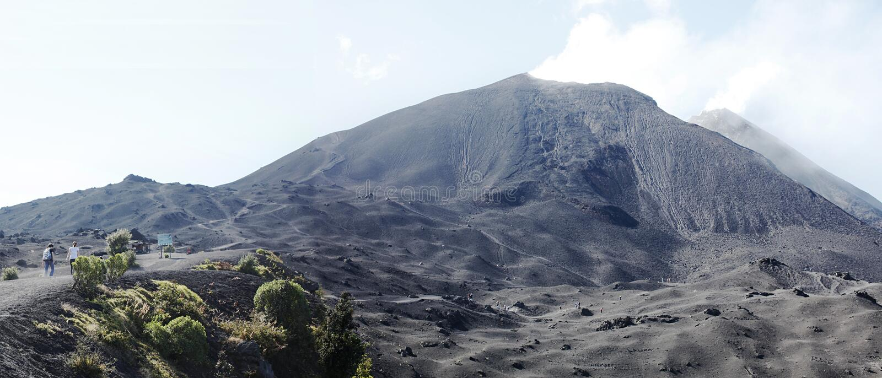Parco nazionale del vulcano di Pacaya, Guatemala immagini stock libere da diritti