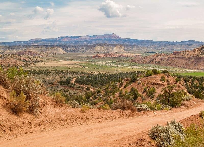 Parco nazionale della scogliera del Campidoglio vicino a Torrey, Utah immagine stock libera da diritti